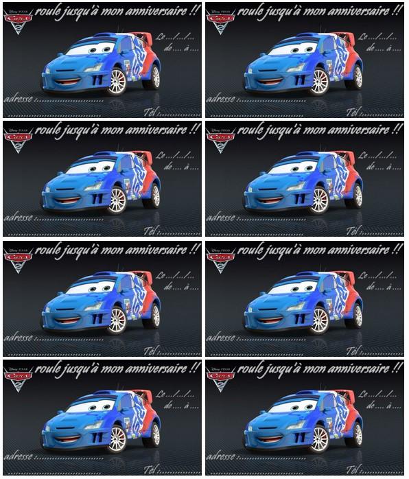 Carte Anniversaire Cars Raoul Ca Roule A Imprimer