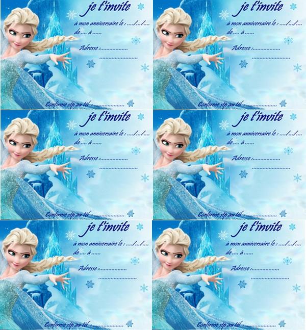 Carte Anniversaire Elsa Reine Des Neiges 2 A Imprimer