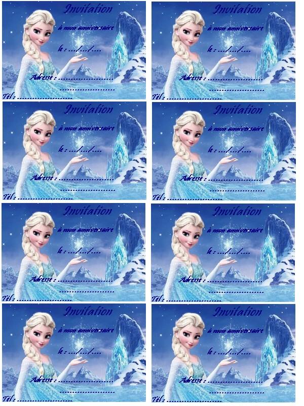 Carte Anniversaire Elsa Reine Des Neiges A Imprimer