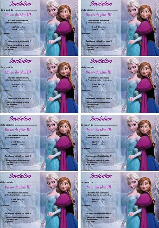 Carte Anniversaire Reine Des Neige Anna Et Elsa A Imprimer