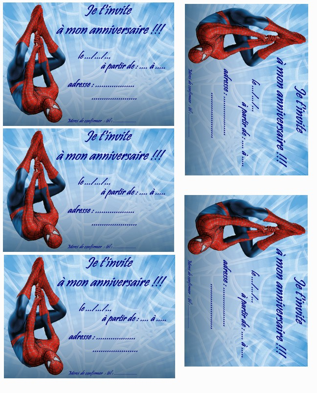 Carte anniversaire spiderman 3 a imprimer - Photo de spiderman a imprimer gratuit ...