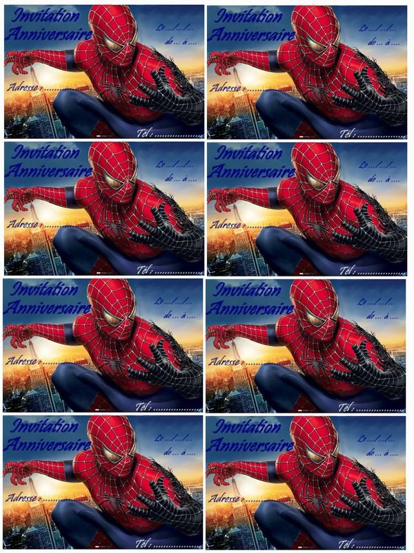 Carte Anniversaire Spiderman A Imprimer