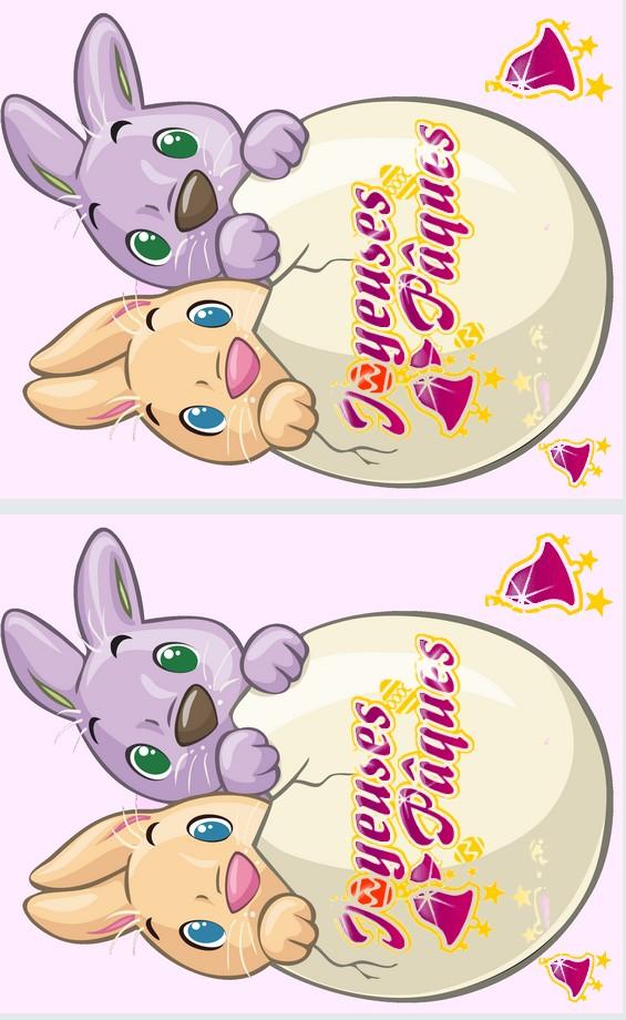 Carte postale lapins de paques dans oeuf a imprimer - Carte de paques a imprimer gratuit ...