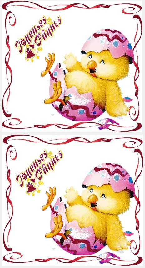 Carte postale poussin joyeuse paques a imprimer - Carte de paques a imprimer gratuit ...