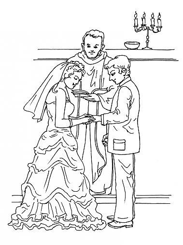 Coloriage a imprimer celebration de mariage gratuit et colorier - Coloriage mariage ...