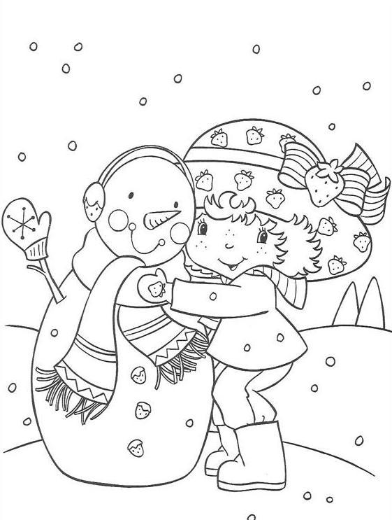 Coloriage a imprimer charlotte enlace le bonhomme de neige gratuit et colorier - Bonhomme de neige a imprimer gratuit ...