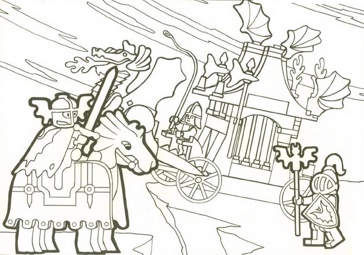 Coloriage a imprimer chateau lego et chevaliers gratuit et - Lego city a imprimer ...