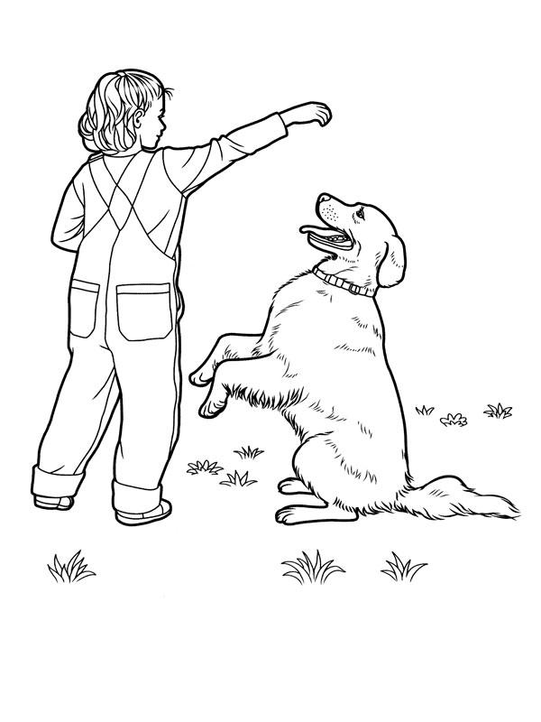 Coloriage A Imprimer Chien Labrador Qui Fait Le Beau Gratuit