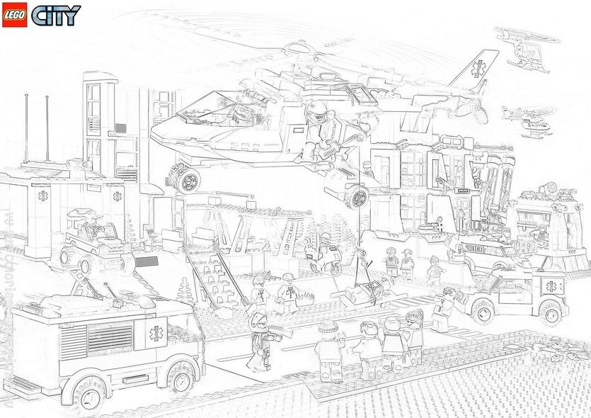 coloriage à imprimer gratuit : city lego