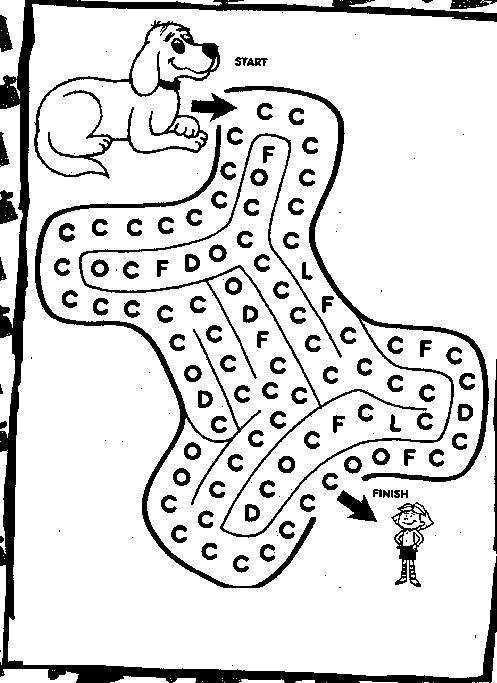 Coloriage a imprimer clifford et le labyrinthe gratuit et colorier - Dessin labyrinthe ...