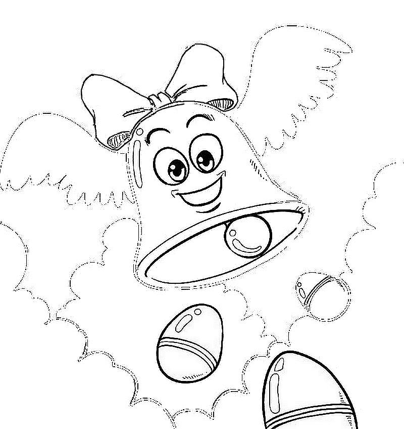 Coloriage a imprimer cloche ailee de paque gratuit et colorier - Dessin cloche ...
