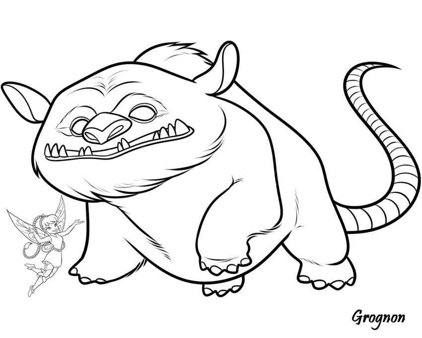 Coloriage a imprimer clochette et la creature legendaire gratuit et colorier