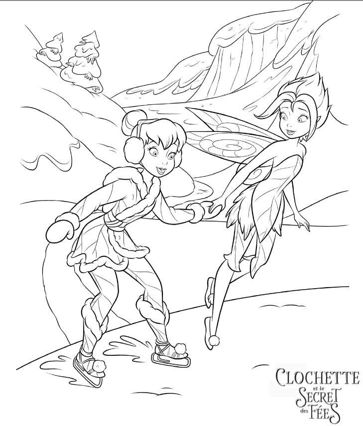 Coloriage a imprimer clochette et le secret des fees patinage gratuit et colorier - La fee clochette et le secret des fees ...