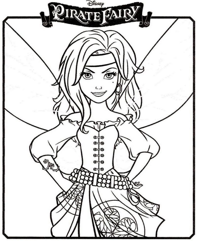 Coloriage a imprimer clochette la fee pirate zarina - Clochette coloriage ...