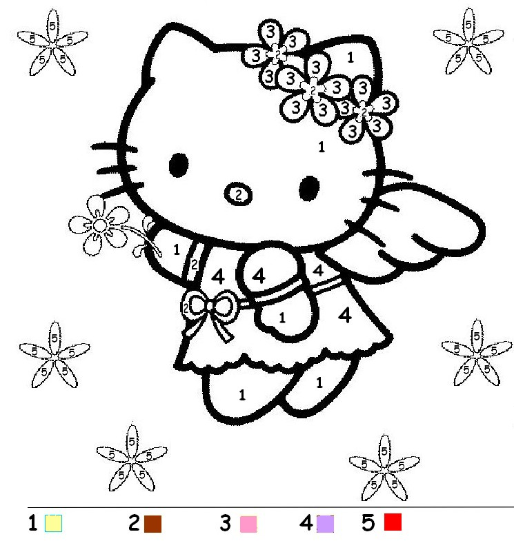 coloriage coloriage magique hello kitty ange