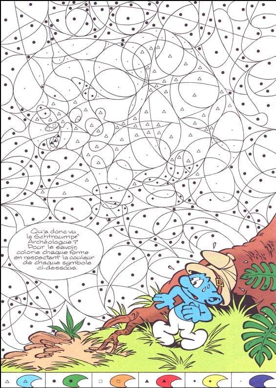 coloriage coloriage magique schtroumpf