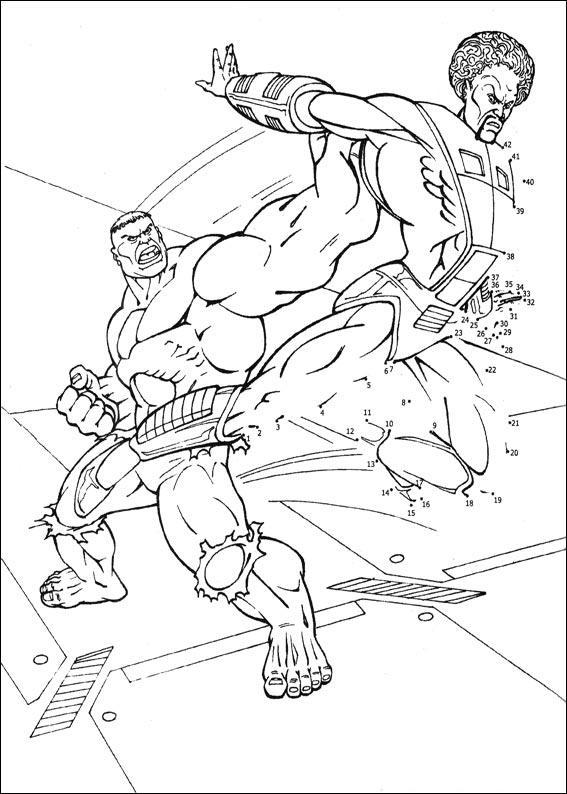 Coloriage point a point a imprimer combat de super heros gratuit et colorier - Dessin point a point ...