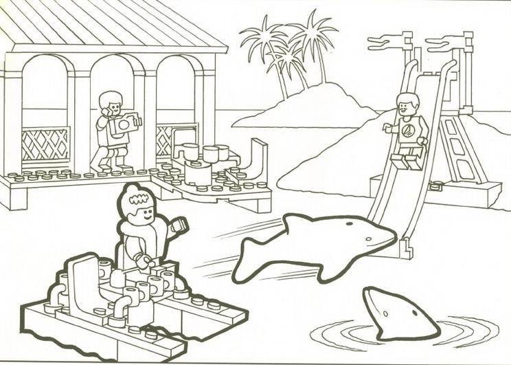 Coloriage a imprimer dauphins lego gratuit et colorier - Coloriage lego friends a imprimer ...