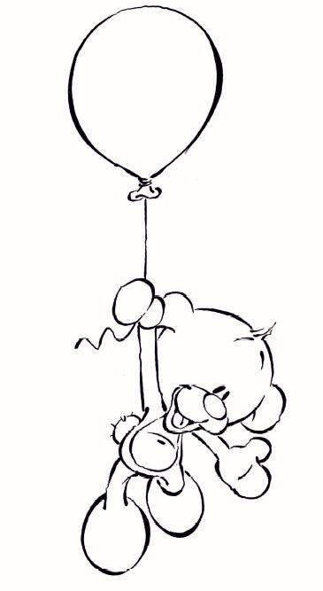 Coloriage a imprimer diddl pimboli ballon gratuit et colorier - Ballon coloriage ...