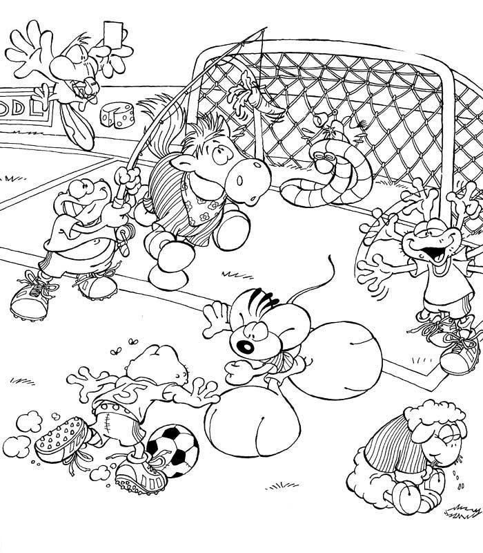 Coloriage a imprimer diddl et ses amis jouant au foot gratuit et colorier - Coloriage a imprimer foot ...