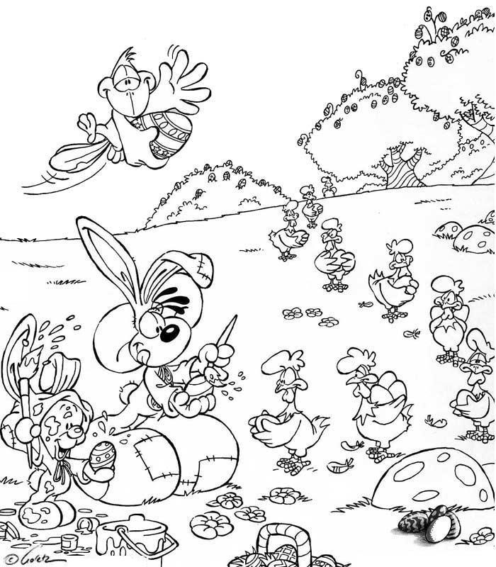 Coloriage a imprimer diddl prepare paques gratuit et colorier - Diddle dessin ...