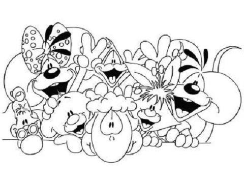 Coloriage a imprimer diddl amis gratuit et colorier - Diddle dessin ...