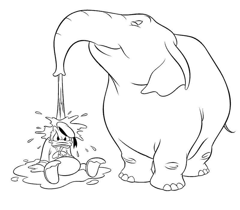 Coloriage a imprimer donald avec elephant gratuit et colorier - Elephant a imprimer ...