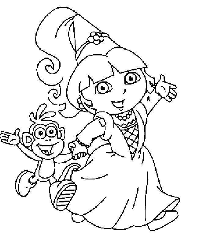Coloriage A Imprimer Dora La Princesse Gratuit Et Colorier