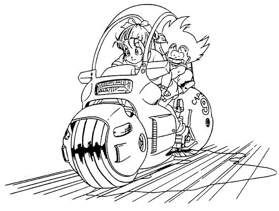 Coloriage A Imprimer Dragon Ball Z Bulma Et Sangoku Gratuit Et Colorier