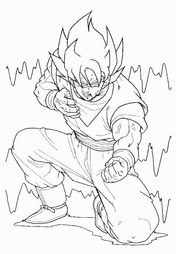 Dragon Ball Coloriage A Imprimer Gratuit Dragon Ball Z