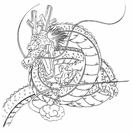 coloriage à imprimer gratuit : dragon ball
