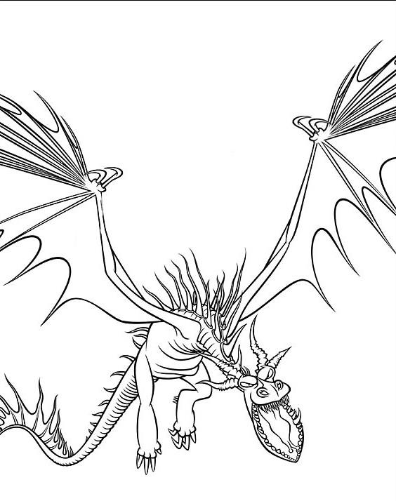 Coloriage a imprimer dragon croche fer gratuit et colorier - Dessin dragon a imprimer ...