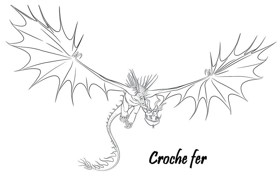 Coloriage a imprimer dragons 2 croche fer gratuit et colorier - Coloriages de dragons ...