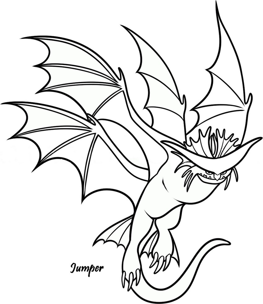 Coloriage a imprimer dragons 2 jumper gratuit et colorier - Coloriages de dragons ...