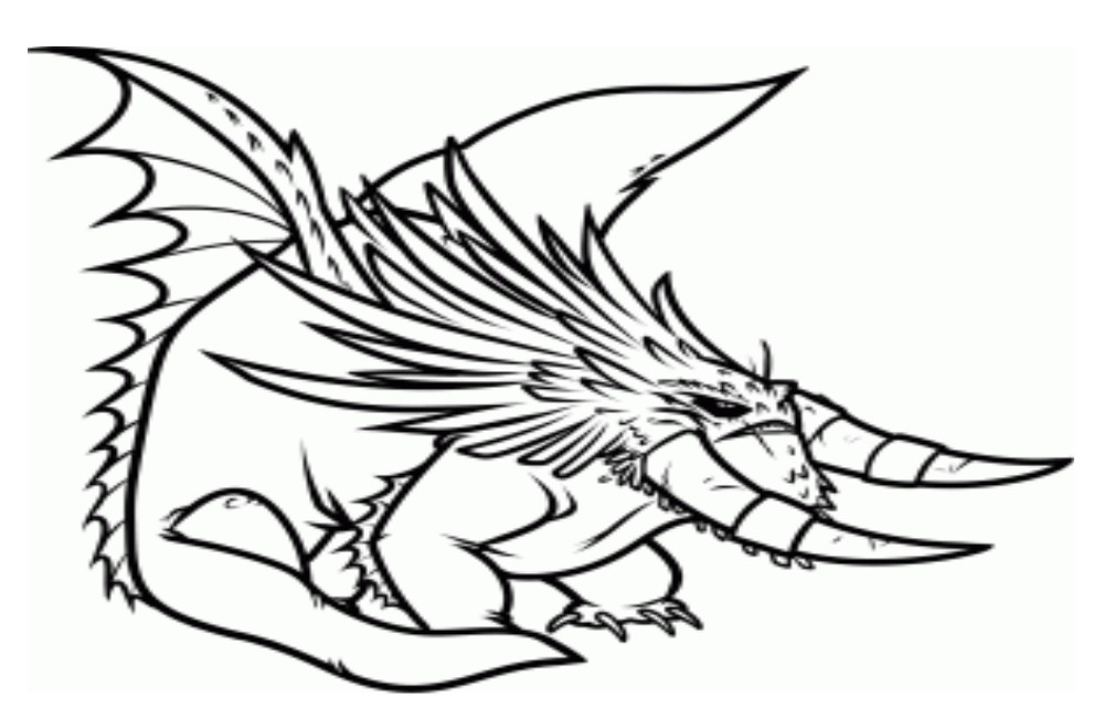 Coloriage a imprimer dragons 2 le dragon alpha gratuit et - Coloriages de dragons ...
