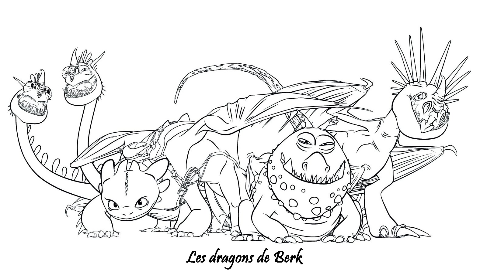 Coloriage a imprimer dragons 2 les dragons de berk gratuit et colorier - Dessins dragon ...