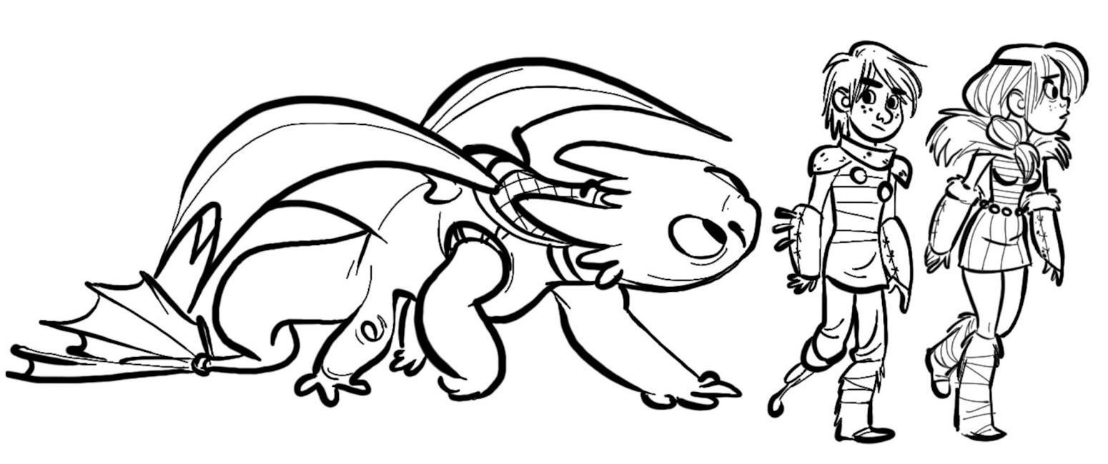 Coloriage a imprimer dragons 2 les inseparables gratuit et colorier - Dessin a imprimer dragon ...