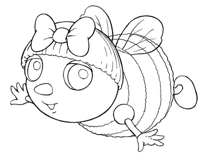 Coloriage a imprimer droles de petites betes l abeille mireille vole gratuit et colorier - Coloriage drole a imprimer ...