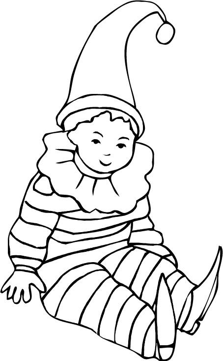 Coloriage a imprimer enfant deguise en arlequin gratuit et colorier - Coloriage pierrot ...