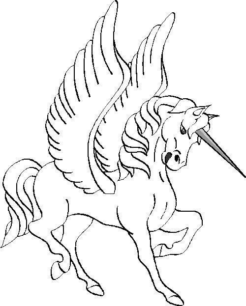 Coloriage a imprimer fiere licorne ailee gratuit et colorier - Coloriage licorne ailee ...