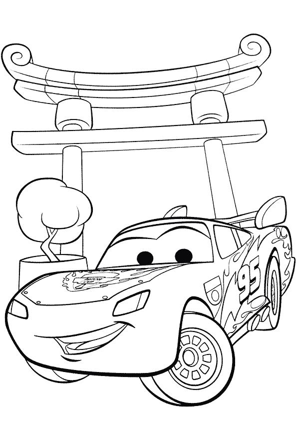 Coloriage a imprimer flash mac queen cars 2 gratuit et - Cars 2 coloriage ...