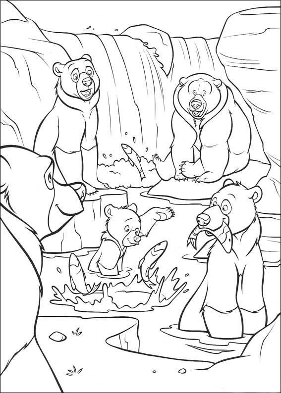 Coloriage a imprimer frere des ours le clan des ours - Coloriage de ours ...