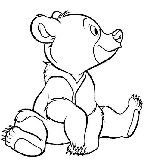 Coloriage a imprimer freres des ours 2 gratuit et colorier - Coloriage de ours ...