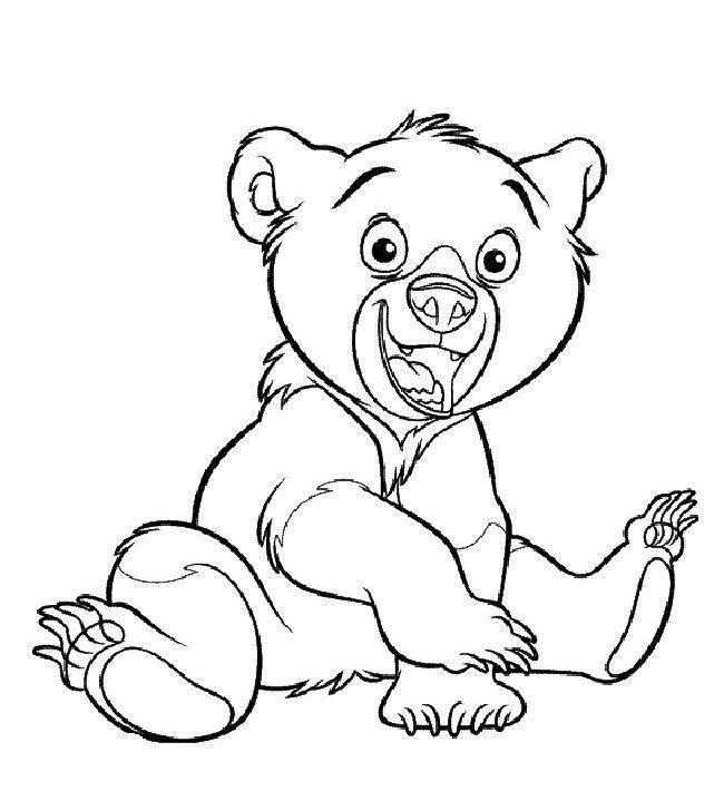 Coloriage a imprimer freres des ours kenai gratuit et colorier - Coloriage de ours ...