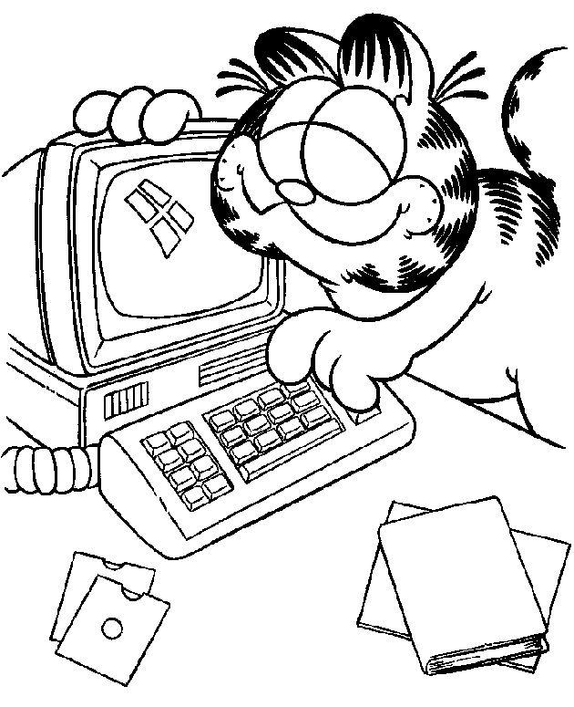 Coloriage Ordinateur A Imprimer Le Pave Numerique