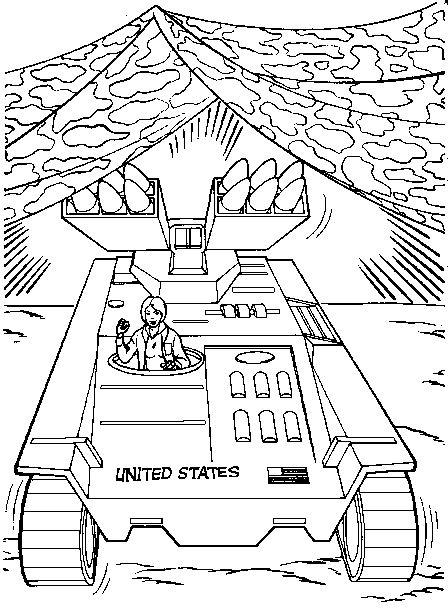 Coloriage a imprimer gi joe le char militaire gratuit et colorier - Coloriage de char ...