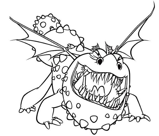 Coloriage a imprimer gronk le dragon de varek gratuit et ...