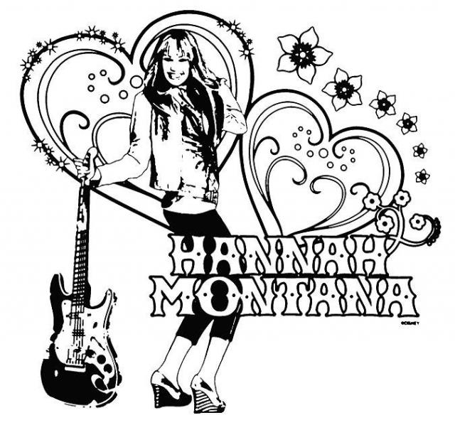 coloriage à imprimer gratuit : hannah montana
