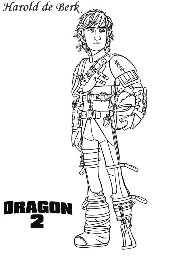 Coloriage a imprimer harold de berk dragons 2 gratuit et colorier - Coloriage dragon 2 ...