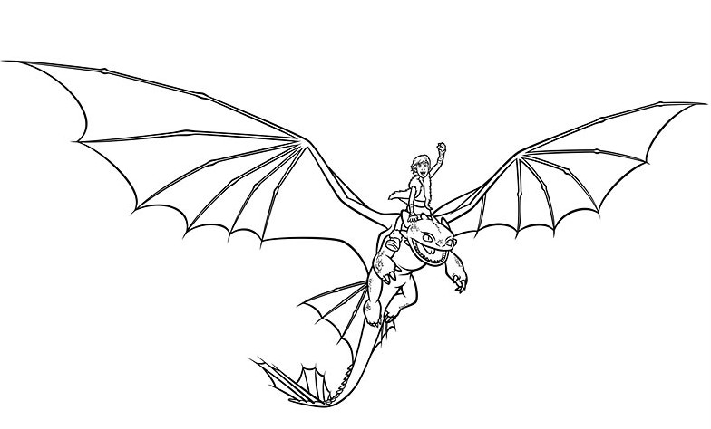 Coloriage a imprimer harold et krokmou en plein vol gratuit et colorier - Coloriage dragon 2 ...